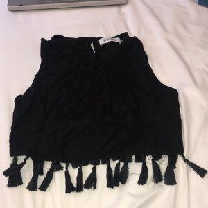 Black Tasseled Top